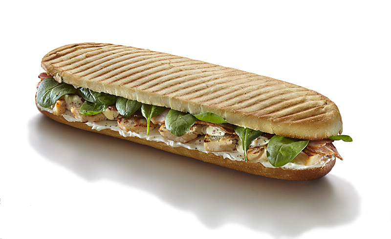 Panini chicken, bacon 230g, Ingredients: chicken breast, bacon ...